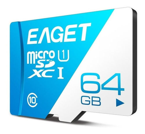 Tarjeta De Memoria Microsd Marca Eaget 64gb T1 Class 10 Xci