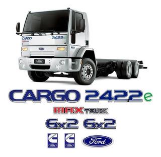 Kit Adesivo Emblema Ford Cargo 2422e Max Truck 6x2 Cummins