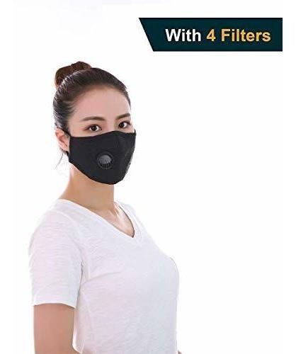 Máscara Anticontaminación Fbve Lavable De Algodón Con Correa