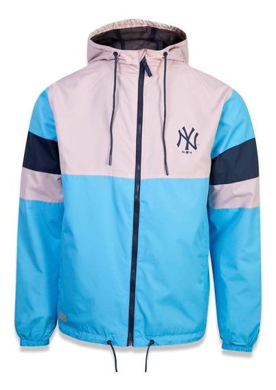 Jaqueta New Era Corta Rain Block New York Yankees Azul/rosa