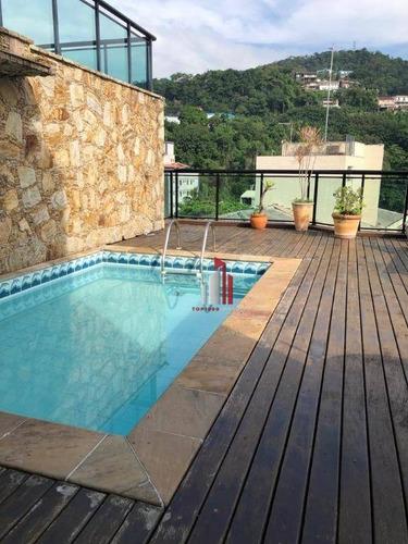 Cobertura Com 3 Dormitórios À Venda, 137 M² Por R$ 569.900,00 - Jardim Três Marias - Guarujá/sp - Co0022