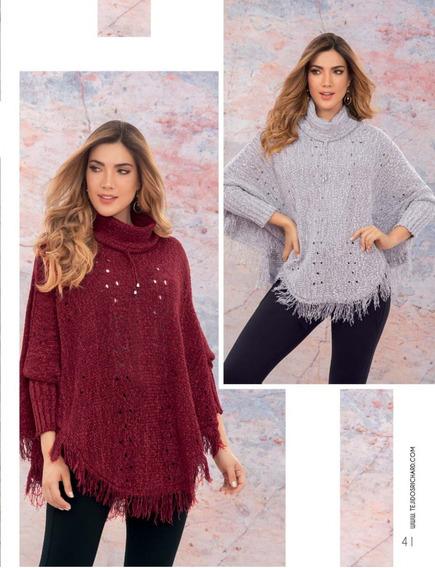 Hermoso Suéter Sweater Saco Tejido Para Mujer Juvenil Ruana