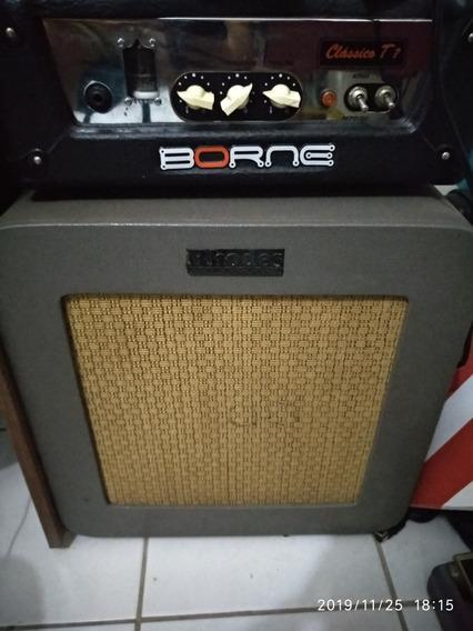 Amplificador Valvulado Borne T7 Cabeçote + Caixa