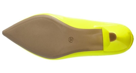 Sapato Feminino Scarpin Neon Salto Alto Tendência