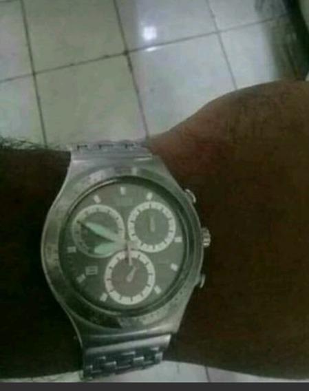 Swatch Ironi Alumínio E Aço, 6 Ponteiros , Crono !!