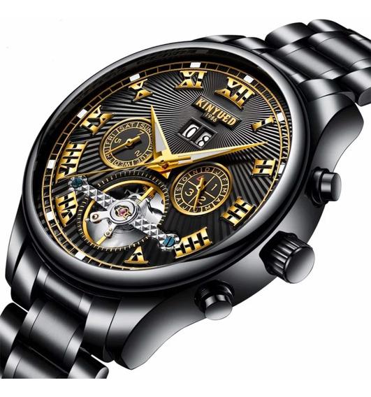 Relógio Masculino Kinyued Original Esqueleto Automático