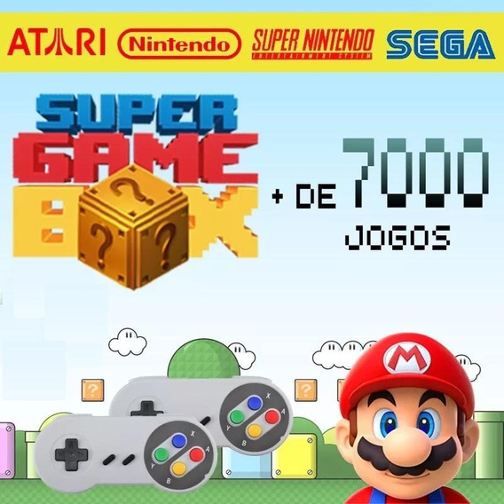 Retro Box - Video Game Retro Com 7000 Jogos Antigos 64gb
