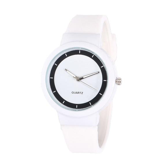 Mulheres Relógio Quartzo Cinta Silicone Relógio Personalidad