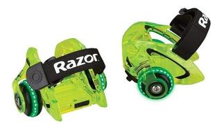 Patines De Talon Razor Jetts Heel Wheels Dlx 2 Ruedas Neon