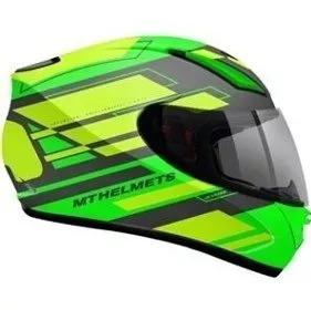 Capacete Moto Mt Revenge Zusa Green Fluor Verde Original