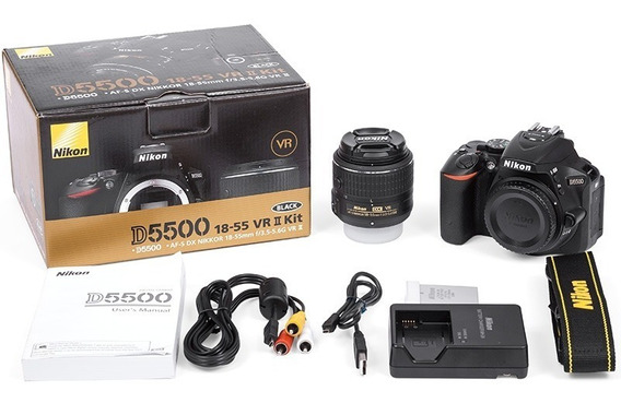 Câmera Digital Nikon D5500 Af-s Kit 18-55mm F/3.5-5.6g Vr Ii