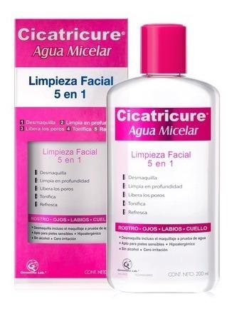 Cicatricure Agua Micelar Limpieza Facial 5 En 1 X 200 Ml