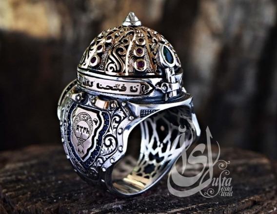 Plata Anillo 925 Especial Diseño Piedra De Emeraldrubysapphi