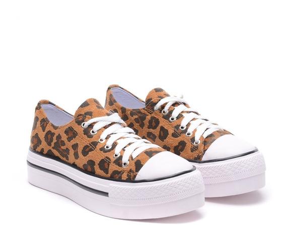 Zapatillas Mujer Animal Print Sneakers Urbanas Nuevas 2019