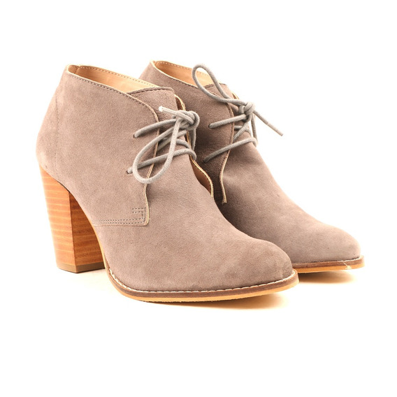 Carlton London Carolyn Damas Gris Suede Laceup De Tac¿n Bot