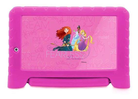 Tablet Infantil Multilaser Disney Princesas 7 Wi-fi 8gb Rosa