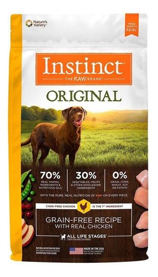 Alimento Instinct Original perro adulto raza mediana/grande pollo 1.8kg