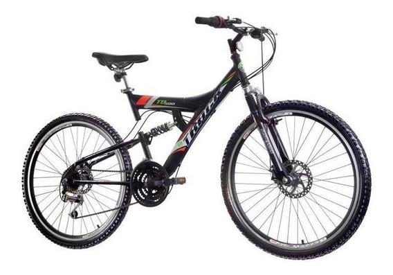 Bicicleta Track & Bikes, Aro 26, 21 Marchas, Preta - Tb 500