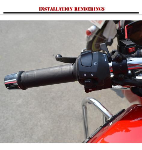Pu/ños Calefactables para Motocicleta Almohadillas de Kit de Agarre Calentado Caliente Apretones de Manillar de la Motocicleta Manillar Universal El/éctrico Calentado