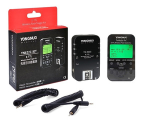 Kit Rádio Flash Yongnuo Yn 622c Tx E-ttl Para Canon