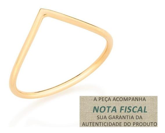 Anel Skinny Formado V Aro Fino Rommanel 512449