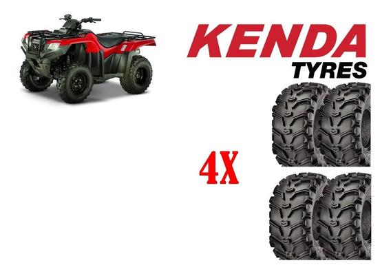 Jogo Pneu Kenda Honda Fourtrax 420 24/8-12 + 24/10-11 Atv