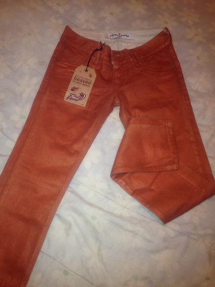 Pantalón Para Dama Talla 24 Color Ladrillo