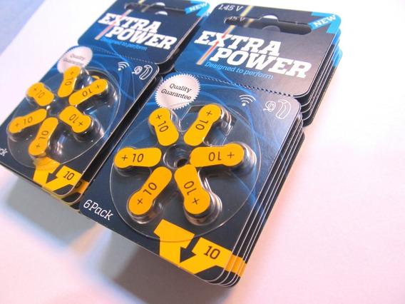 Pilhas Bateria Extra Power Auditiva N10 Audição 60 Unidades