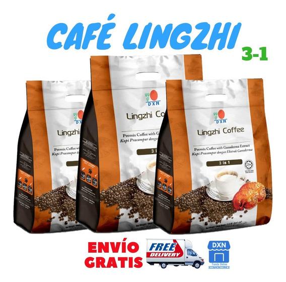 3 Bolsas Café Lingzhi Dxn Orgánico Con Ganoderma