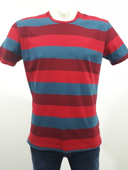 Playera Marca Autentic Lyon 311270 501 Ladrillo Y Azul