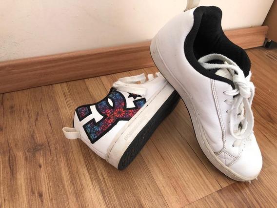 Zapatillas Dc - Nro 38 - Unixes - Escaso Uso - Blancas
