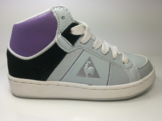 Zapatillas Niña Lecoq Sportif Toulon High Jr Grey - Lila