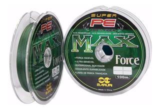 Linha Multifilamento Max Force 014 020 030 Mm Pesca Pesada