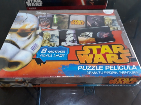 Puzzle Star Wars. Pelicula. 8 Motivos De 12 Piezas C/u.