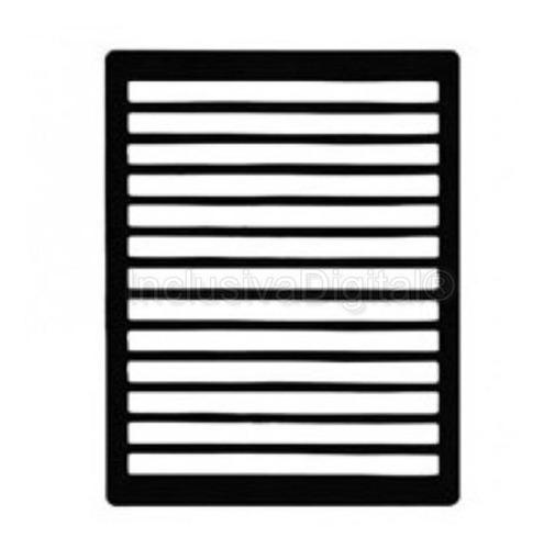 Imagem 1 de 1 de Guia De Escrita Página Inteira A4 Em Abs Deficientes Visuais