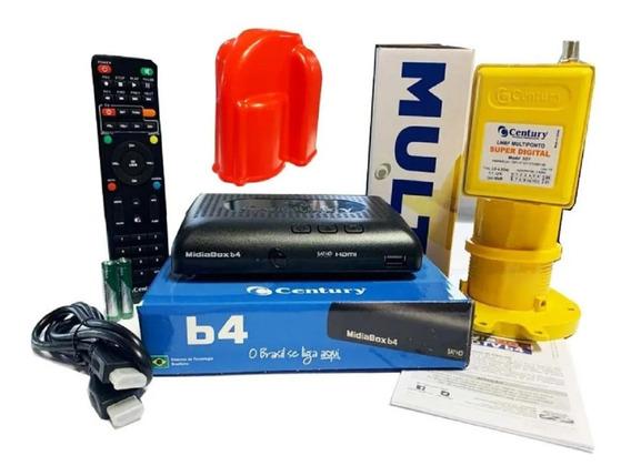 Receptor Digital Midiabox B4 C/lnbf Multiponto E Capa P/lnbf