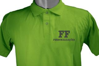 Camisa Polo Uniformes Bordado Personalizada Frente E Costa