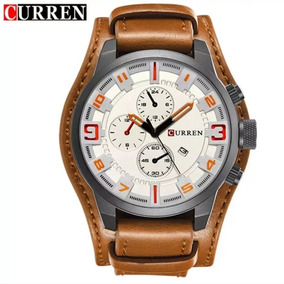 Relógio Masculino Curren 8225 Pulseira Couro Bracelete