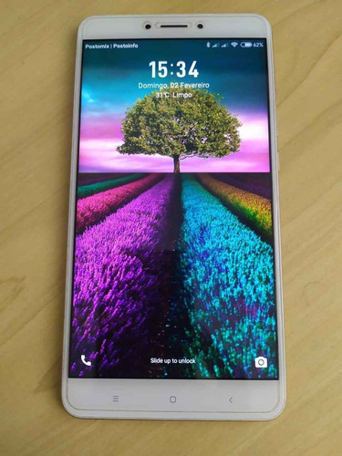 Xiaomi Mi Max 2 - 4gb - 128gb - Dourado - Impecável