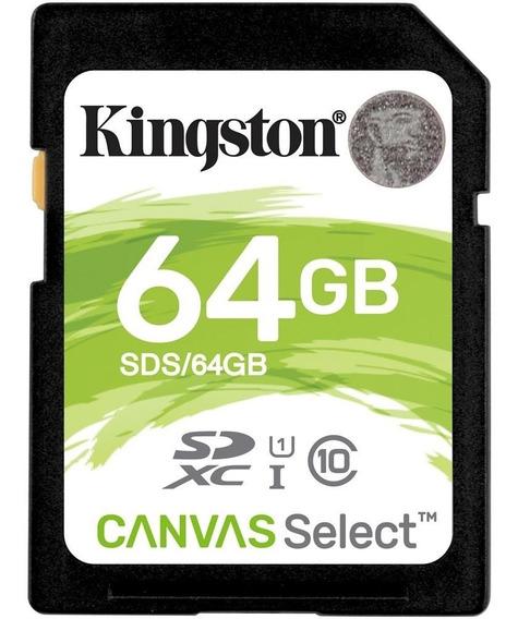 Cartão Para Câmeras Fotográficas Kingston 64gb Sdhc