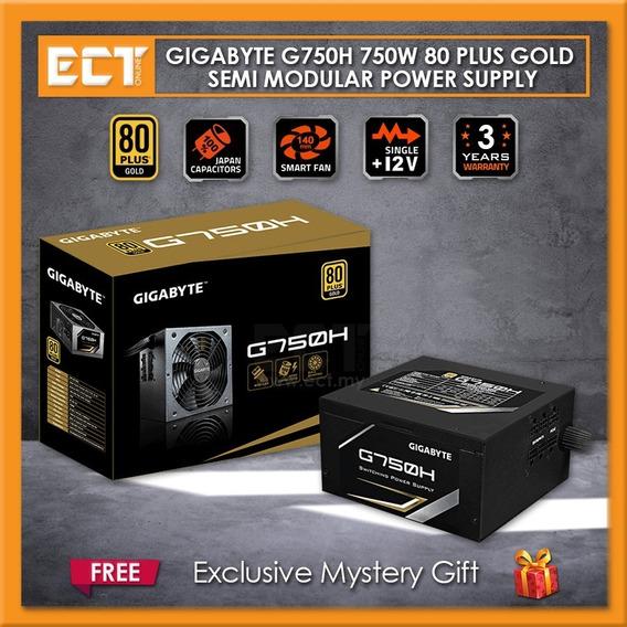 Fonte Gamer Gigabyte 750w 80plus Gold Semi Modular G750h Pfc