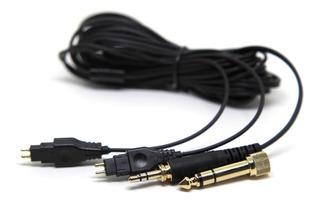 Cabo Stereo Reposição Para Fone Sennheiser Hd580 Hd600 Hd650