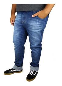 Calça Jeans Com Lycra Masculina Plus Size Até N° 58