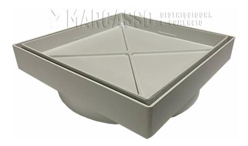 Ralo 15x15 Cm Invisível Oculto Anti Odor/inseto - Cor Branco