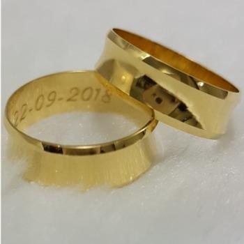 Aliança Ouro 18k 6mm Côncava Peça