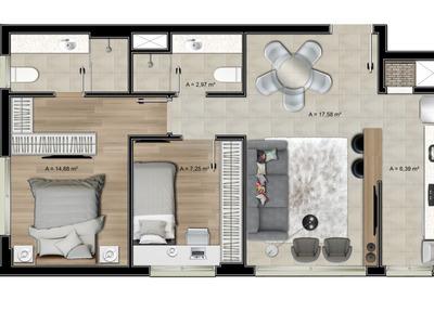 Apartamento Novo 2 Quartos, 2 Banheiros, Sacada, Garagem E +