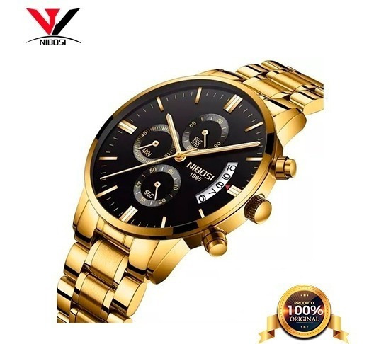 Relógio Nibosi Cronógrafo Fr Grátis Promoção
