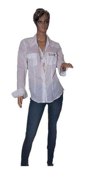 47 Street Camisa Basica Color Blanca Con Calavera