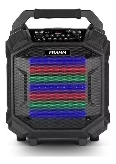 Caixa De Som Amplificada 250w Pb 500 Bt Preta Frahm Portátil