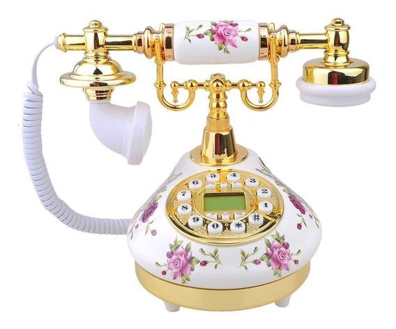 Telefone Fixo C/ Fio,redondo,vintage Antigo Enjoy